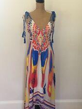 Flying Tomato Multicolor Sleeveless Handkerchief Hem Dress, Size M, NWTS