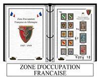 Album de timbres à imprimer LES ZONES D'OCCUPATION FRANÇAISE