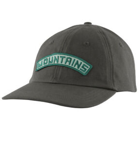 Patagonia Playlands Trad Cap Mountains in Forge Grey Baseball cap Rare! NEW!!
