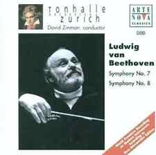 Beethoven Symphonies Nos. 7 & 8 • New CD - David Zinman - Tonhalle Zurich Import