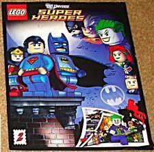 LEGO RARE GIVEAWAY PROMO DC UNIVERSE SUPERHEROES 2 SUPERMAN BATMAN COMIC