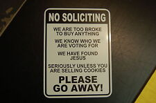 No SOLICITING metal sign weaterproof Home Yard warning security office game room