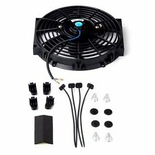 "10"" inch UNIVERSAL SLIM FAN PUSH PULL ELECTRIC RADIATOR COOLING 12V 80w 800 CFM"