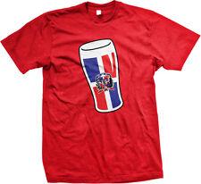 Dominican Republic Pint Glass Flag Republica Dominicana DOM DO Mug Men's T-Shirt