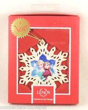 Lenox Disney's Frozen Anna and Elsa Snowflake Christmas Ornament (852197) NEW!