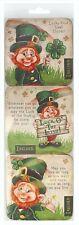 McMurfy Luck O' The Irish Leprechaun Set of 6 Cork Backed Coasters  (sg)