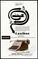 1953 Olivetti Lexikon typewriter photo UK vintage print ad