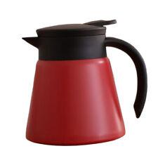 650ml Stainless Steel Vacuum Insulation Pot Tea Jug Hot Drinks -Red