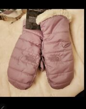 The North Face Girls Size Small Reversible Mossbud Swirl Navy Blue Lined Mittens