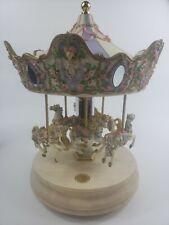 San Francisco Music Box Co Carousel Horse Les Fleurs De Amour Limited Edition