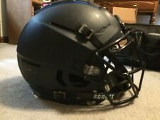 Schutt F5 Football Helmet. Navy Matte Shell with Facemask and Chinstrap