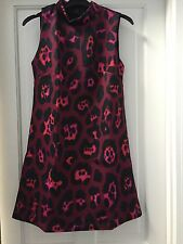 New Ex High Street Pink Animal Print Scuba Shift Dress. RRP £35. Size 10