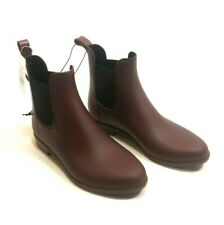 A New Day Women's ALEX Rain Boots Size 6 NWT Berry Ankle Boot Pull-On Weather