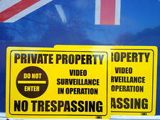 Private Property Do Not Enter Video Pack 2 Metal Safety Sign 450x300mm