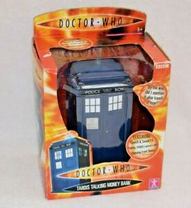 TARDIS money box bank coin 9th doctor DR WHO boxed
