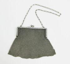 Antique Vintage R.Blackinton & Co Sterling Silver Mesh Purse / Handbag