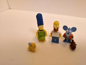 The Simpsons Lego Lot set of 3 1/4 minifigures