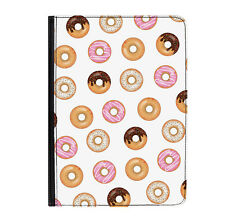 "Doughnut Pattern Donut Funny Universal Tablet 9-10.1"" Leather Flip Case Cover"