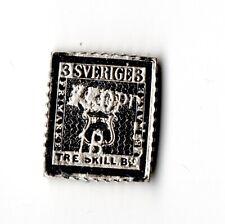 Schweden 1855 Tre Skill Silber Miniatur Selten Stempel Gestempelt 1982