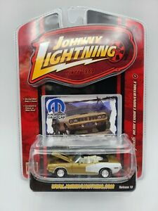 JOHNNY LIGHTNING MOPAR OR NO CAR 1971 PLYMOUTH HEMI CUDA CONVERTIBLE #4 RR