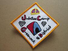 Greenock & District Diamond Jubilee Girl Guides Cloth Patch Badge (L3K)