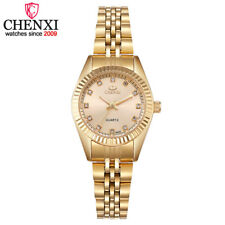 CHENXI Luxury Brand Fashion Women Watch Gold Steel Bracelet Lady Wristwatch Gift