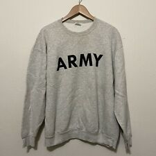 Vintage US Army Gray Crewneck Sweatshirt Large Made in USA 50/50 blend