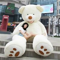 "78"" 200cm Giant Skin Teddy Bear Big Stuffed Toy Valentine Love Gift Kids Girl US"