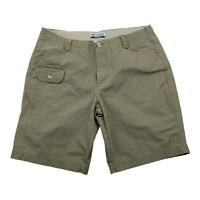 """Women's Columbia Dark Tan Khaki Cargo Shorts Size 10  6"""" inseam"""