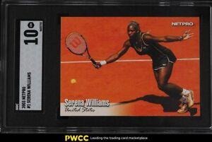 2003 Netpro Tennis Serena Williams ROOKIE RC #1 SGC 10 GEM MINT