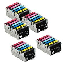 30-Pk/Pack T098 T099 REMAN Ink For Epson Artisan 700 710 725 730 800 810 835 837
