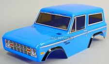 Rc Truck BODY SHELL 1/10 FORD BRONCO 252mm For Tamiya CC01 -BLUE- FINISHED