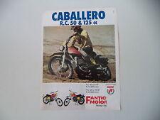 advertising Pubblicità 1975 MOTO FANTIC CABALLERO RC 50 e 125