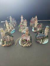 9 Thomas Kinkade Bradford Editions 3 Sets Of 3- Lighthouse Ornaments
