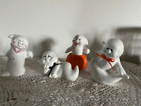Lot of 4 Vintage Halloween Ceramic Figurines  Ghosts C
