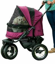 Pet Gear NO-ZIP Double Stroller Zipperless Dogs/Cats Plush Pad + Weather Cover