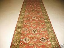 3x12 Runner Classic Traditional Oriental Plush Hand Tufted Wool Rust Area Rug