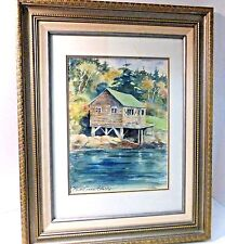 Original Signed Watercolor Painting by Diana Eames Esterly - Maine Lobster Hut