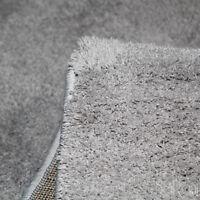 Tapis Moderne Couchage Court Mou Gris Salon Tapis chevet 80x150 cm SARANI