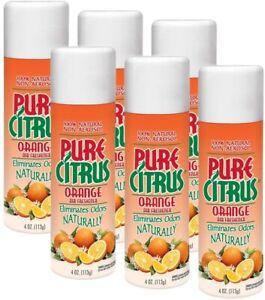 Pure Citrus Spray 4 Oz. Car Air Freshener, Orange (6-Pack)
