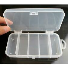 Plastic 5 Compartments Fishing Tackle Box Fish Lure Hook Bait Storage Case