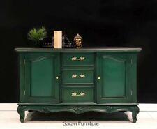 Handpainted Sideboard In Green & Black - Cabinet, Hutch, Cupboard, Buffet