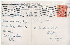 Genealogy Postcard - Family History - Lower - Carisbrooke Road - Brighton U4107