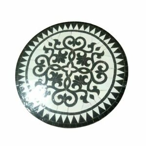 Moroccan Mosaic Tile Bistro Table - 24in Round Zellige - Various Colors