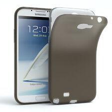 Schutz Hülle für Samsung Galaxy Note 2 Cover Handy Case Matt Schwarz