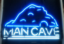"New Man Cave Mountain Neon Light Sign 17""x14"" Bar Decor Wall Windows Display"