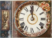 Rice Paper for Decoupage Decopatch Scrapbook Craft Sheet Vintage Old Clock