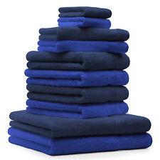 """10-Pcs. Juego toallas """"Premium"""", de color azul real y azul marino ,2 toallas de"""