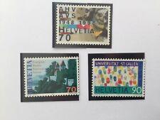 3 Timbres Suisse YT CH 1574 à 1576 neuf** 1998 Anniversaires