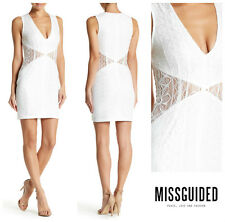 MISSGUIDED  SEXY  LACE  CUTOUT  BODYCON  DRESS  Sz 8  UK 12    Nordstrom   NEW